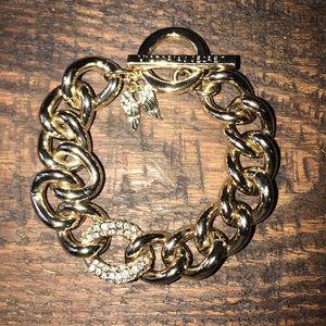 Victoria Secret chunky gold link bracelet